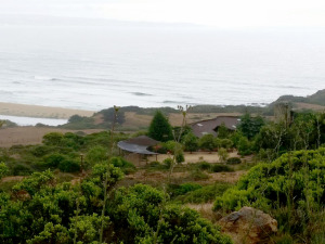 view of ocean and house