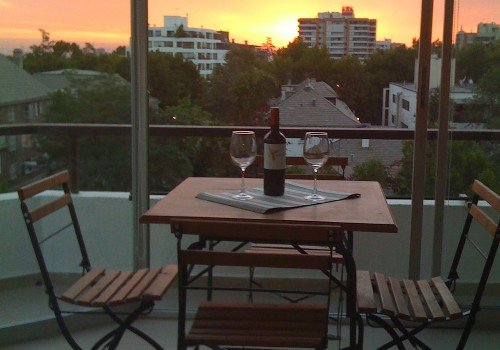 Enjoy a glass of wine on the Terrace at Sundown