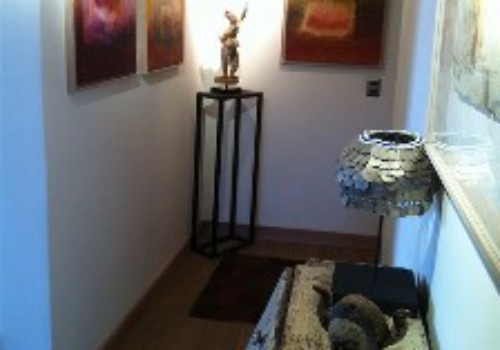 Entrance Foyer with local Chilean artwork
